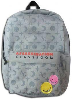 ASSASSINATION CLASSROOM -  KORO SENSEI GRAY MONOGRAM BACKPACK BAG