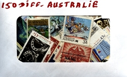 AUSTRALIA -  150 ASSORTED STAMPS - AUSTRALIA