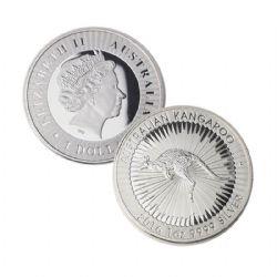 AUSTRALIAN KANGOUROU - 1 OUNCE FINE SILVER COIN -  2016 AUSTRALIA COINS