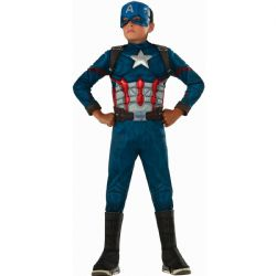 AVENGERS -  CAPTAIN AMERICA COSTUME (CHILD) -  CAPTAIN AMERICA - CIVIL WAR