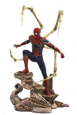 AVENGERS -  SPIDER-MAN (IRON SPIDER) PVC STATUE (9INCHES) -  AVENGERS INFINITY WAR