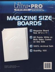 BACK BOARDS -  MAGAZINE SIZE WHITE ON BOTH SIDES (100)