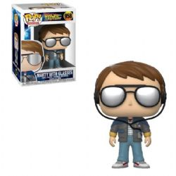 BACK TO THE FUTURE -  POP! VINYL FIGURE OF MARTY MCFLY WITH GLASSES (4 INCH) 958