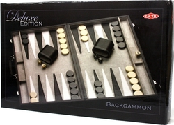 BACKGAMMON -  DELUXE BACKGAMMON WITH CASE