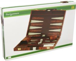 BACKGAMMON -  WHITE AND BROWN