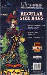 BAGS -  REGULAR SIZE COMIC BAGS (100) (7 1/8