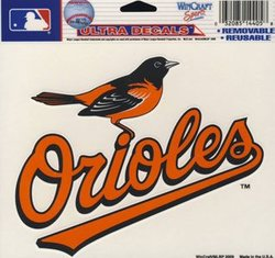 BALTIMORE ORIOLES -  DECAL 5X6 REMOVABLE AND REUSABLE