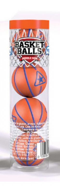 BASKET BALLS -  BUBBLE GUM - SOUR LIME FLAVOR (15.24OZ)