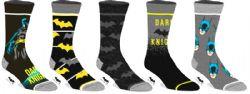 BATMAN -  5 PAIRS OF SOCKS