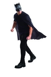 BATMAN -  BATMAN CAPE AND MASK (ADULT) -  BATMAN VS SUPERMAN
