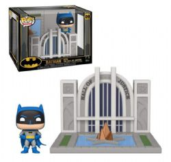 BATMAN -  POP! VINYL FIGURE OF BATMAN WITH THE HALL OF JUSTICE (4 INCH) 09