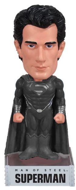 BATMAN -  USED WACKY WOBBLER BOBBLE-HEAD FIGURE OF SUPERMAN (7 1/2 INCH) -  MAN OF STEEL