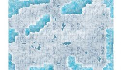 BATTLEFIELD IN A BOX -  GAME MAT -  CAVERNS OF ICE