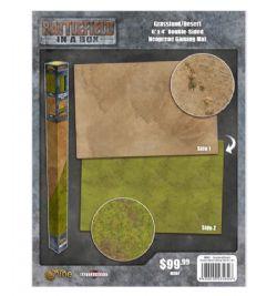 BATTLEFIELD IN A BOX -  GRASSLAND / DESERT DOUBLE SIDED MAT (6'X4')