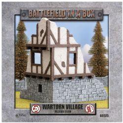 BATTLEFIELD IN A BOX -  WARTORN VILLAGE MEDIUM RUIN