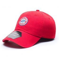 BAYERN MUNICH FC -  LOGO ADJUSTABLE CAP - RED