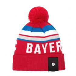 BAYERN MUNICH FC -  LOGO POMPOM BEANIE- RED