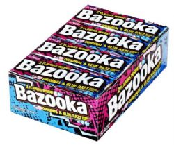 BAZOOKA -  BUBBLE GUM - ORIGINAL & BLUE RAZZ