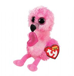 BEANIE BOO'S -  DAINTY THE VALENTINE FLAMINGO (6