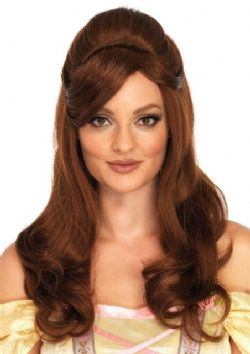 BEAUTY AND THE BEAST -  BELLE WIG - BROWN (ADULT) -  DISNEY'S PRINCESSES