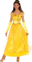 BEAUTY AND THE BEAST -  GOLDEN PRINCESSE COSTUME (ADULT - ONE-SIZE) -  DISNEY'S PRINCESSES