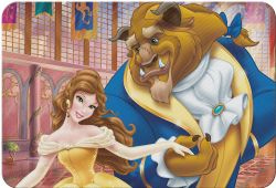 BEAUTY AND THE BEAST -  PLACEMAT - BEAUTY AND THE BEAST -  DISNEY'S PRINCESSES