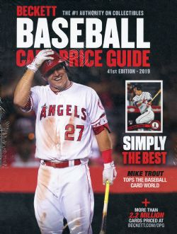 BECKETT BASEBALL CARDS -  BASEBALL CARD PRICE GUIDE 2019 - 41ST EDITION
