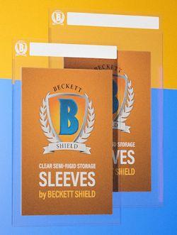 BECKETT SHIELD -  STANDARD SIZE CARD STORAGE - 50 STORAGE SLEEVES