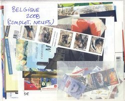 BELGIQUE -  2008 COMPLETE YEAR SET, NEW STAMPS
