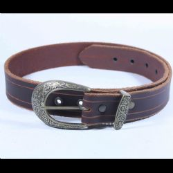 BELTS -  NOBLE LEATHER BELT - BLACK - 35