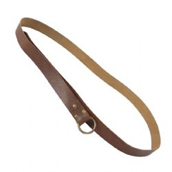 BELTS -  RING BELT - BROWN