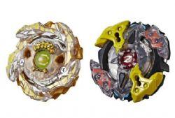 BEYBLADE -  DOUBLE SLING SHOCK PACK - GOLD-X BETROMOTH B4 , GALAXY ZEUTRON Z4 -  BURST TURBO