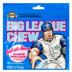 BIG LEAGUE CHEW -  BUBBLE GUM - CURVEBALL COTTON CANDY