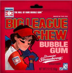 BIG LEAGUE CHEW -  BUBBLE GUM - STRAWBERRY