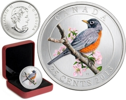 BIRDS OF CANADA -  AMERICAN ROBIN -  2013 CANADIAN COINS 11