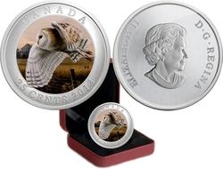 BIRDS OF CANADA -  BARN OWL -  2013 CANADIAN COINS 12