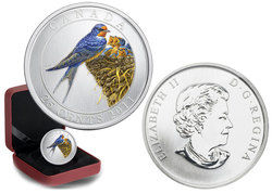 BIRDS OF CANADA -  BARN SWALLOW -  2011 CANADIAN COINS 07
