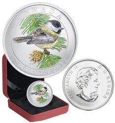 BIRDS OF CANADA -  BLACK-CAPPED CHICKADEE -  2011 CANADIAN COINS 08