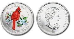 BIRDS OF CANADA -  NORTHERN CARDINAL -  2008 CANADIAN COINS 04