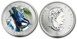 BIRDS OF CANADA -  RED-BREASTED NUTHATCH -  2007 CANADIAN COINS 02