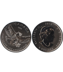 BIRDS OF PREY -  GREAT HORNED OWL - 1 OUNCE FINE SILVER COIN -  2015 CANADIAN COINS 04