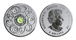 BIRTHSTONES (2020) -  PERIDOT- AUGUST -  2020 CANADIAN COINS 08