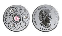 BIRTHSTONES (2020) -  TOURMALINE - OCTOBER -  2020 CANADIAN COINS 10