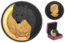BLACK AND GOLD -  THE GREY WOLF -  2021 CANADIAN COINS 02
