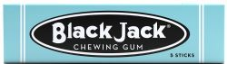 BLACK JACK -  CHEWING GUM - LICORICE - 5 STICKS