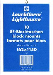 BLACK LIGHTHOUSE BLOCK MOUNTS 162X115D (PACK OF 10)