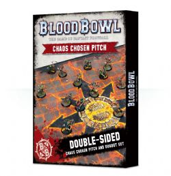 BLOOD BOWL -  DOUBLE-SIDED CHAOS PITCH AND DUGOUT SET