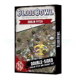 BLOOD BOWL -  DOUBLE-SIDED GOBLIN PITCH & DUGOUTS