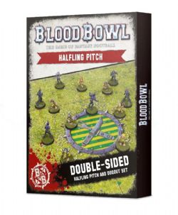 BLOOD BOWL -  DOUBLE-SIDED HAFLING PITCH AND DUGOUT SET