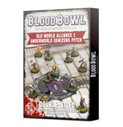 BLOOD BOWL -  DOUBLE-SIDED OLD WORLD AND UNDERWORLD PITCH SET